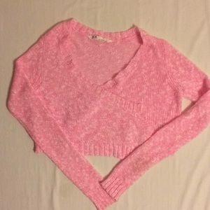 Pink Wrap Shrug Sweater